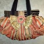 Large Boho Chic Carpet Bag In Tange..