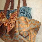 Boho Carpet Bag With Silk Bow And V..