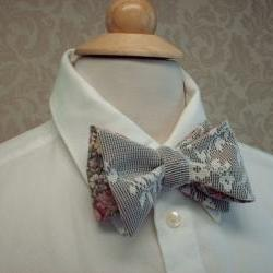 Mens Bow Ties / Custom Made, Freestyle Groom And Groomsmen, Shabby Chic, Vintage, Victorian,n Weddings